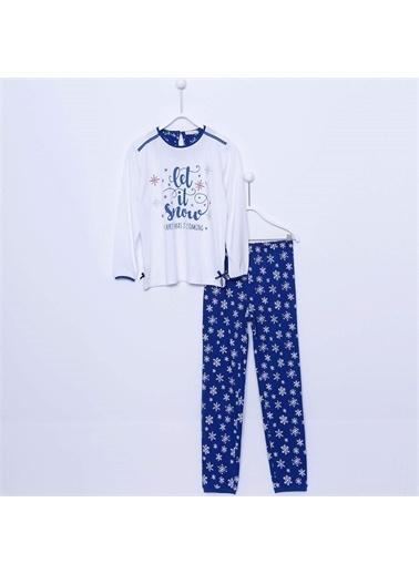 Silversun Kids Kız Çocuk Baskılı Pijama Takım - !Pjm 312977 Lacivert